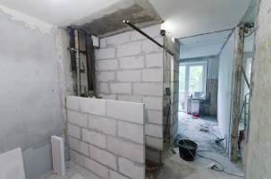 Возведение новых перегородок для ванной комнаты и туалета