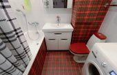 дизайн ванной комнаты со стиральной машиной и унитазом фото